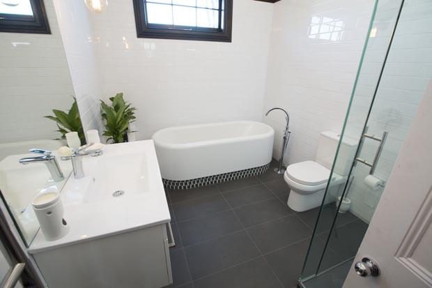 subway tiles bathroom renovation photo